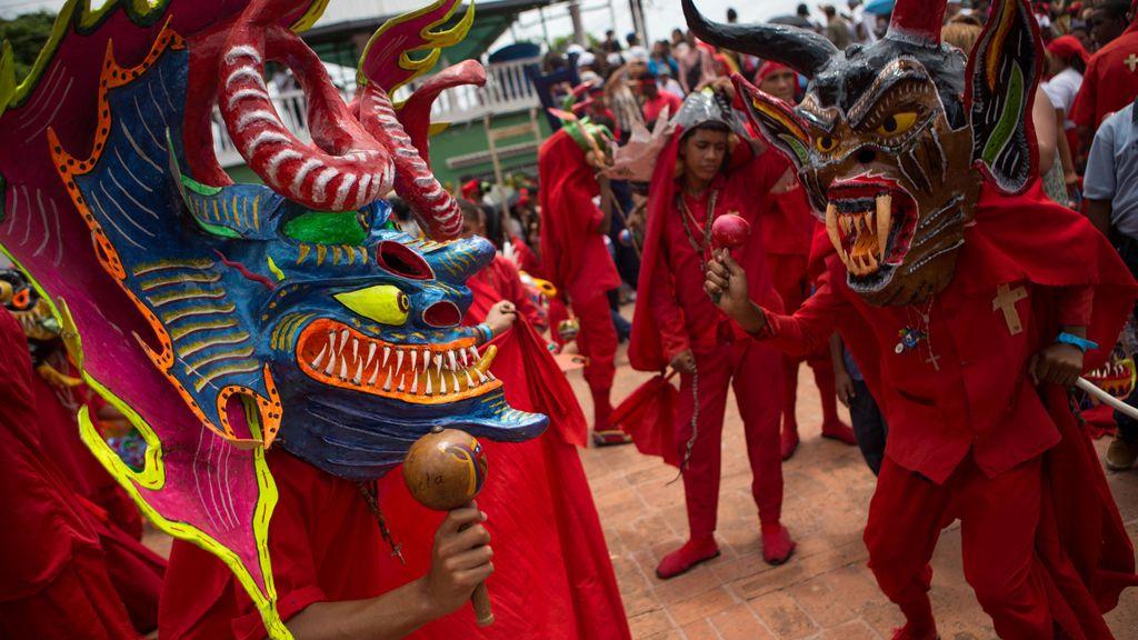 Diablos danzantes de Yare en la celebración del Corpus Christi