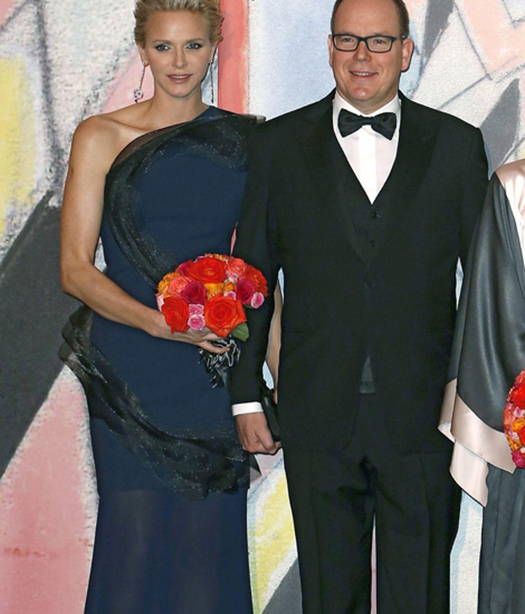 Los príncipes Alberto y Charlene de Mónaco