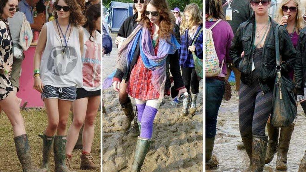 Glastonbury: katiuskas sin lluvia=ridículo