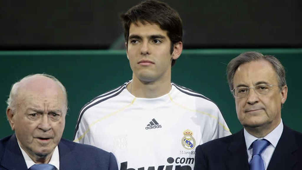Kaká, entre Florentino Pérez y Alfredo Di Stefano