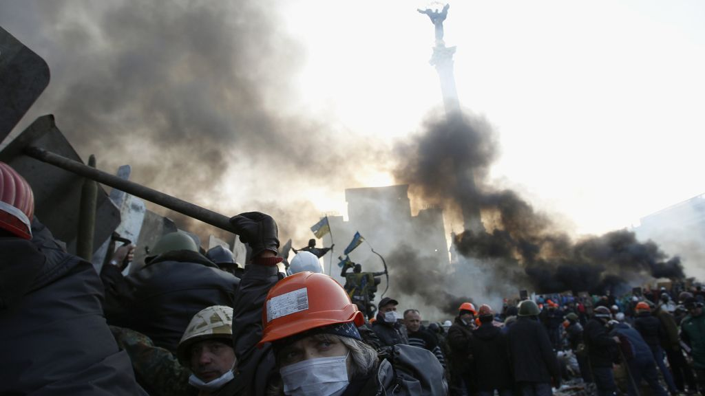 Disturbios en Kiev