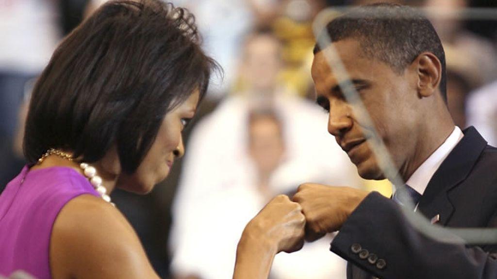 Obama con su mujer