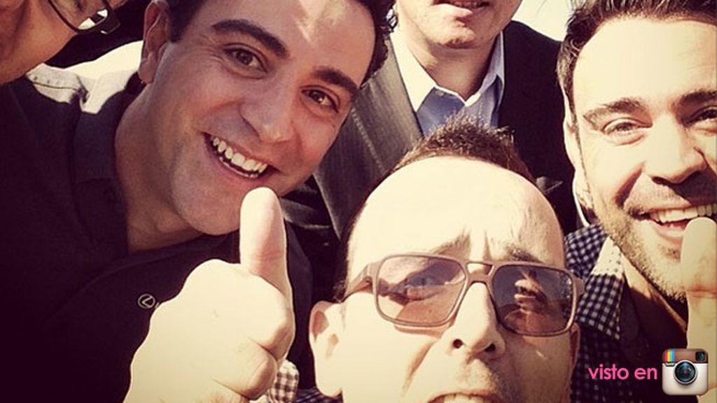 Risto Mejide y Xavi Hernández y su autofoto