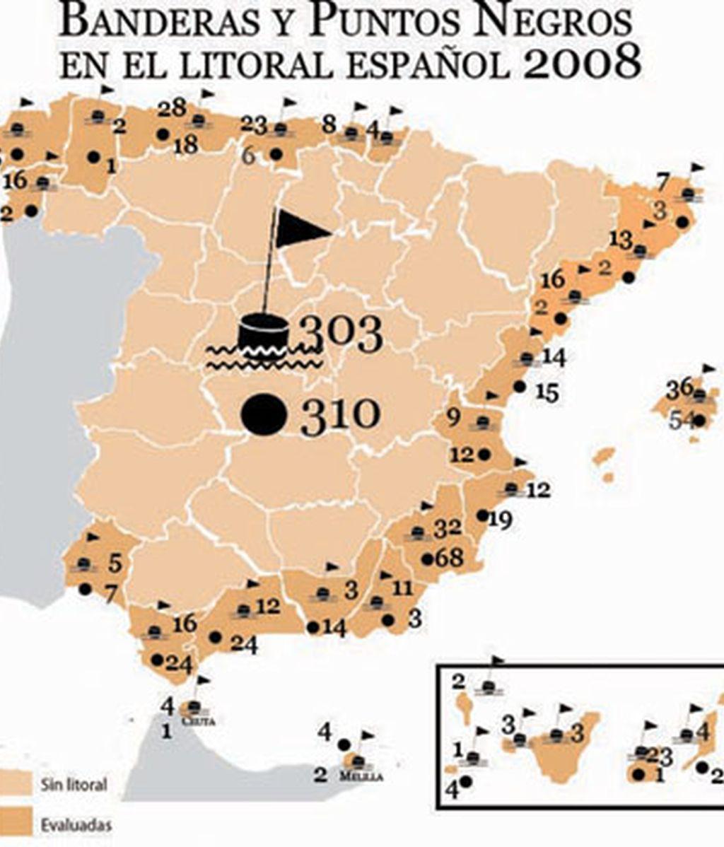 EL MAPA DE LAS BANDERAS NEGRAS