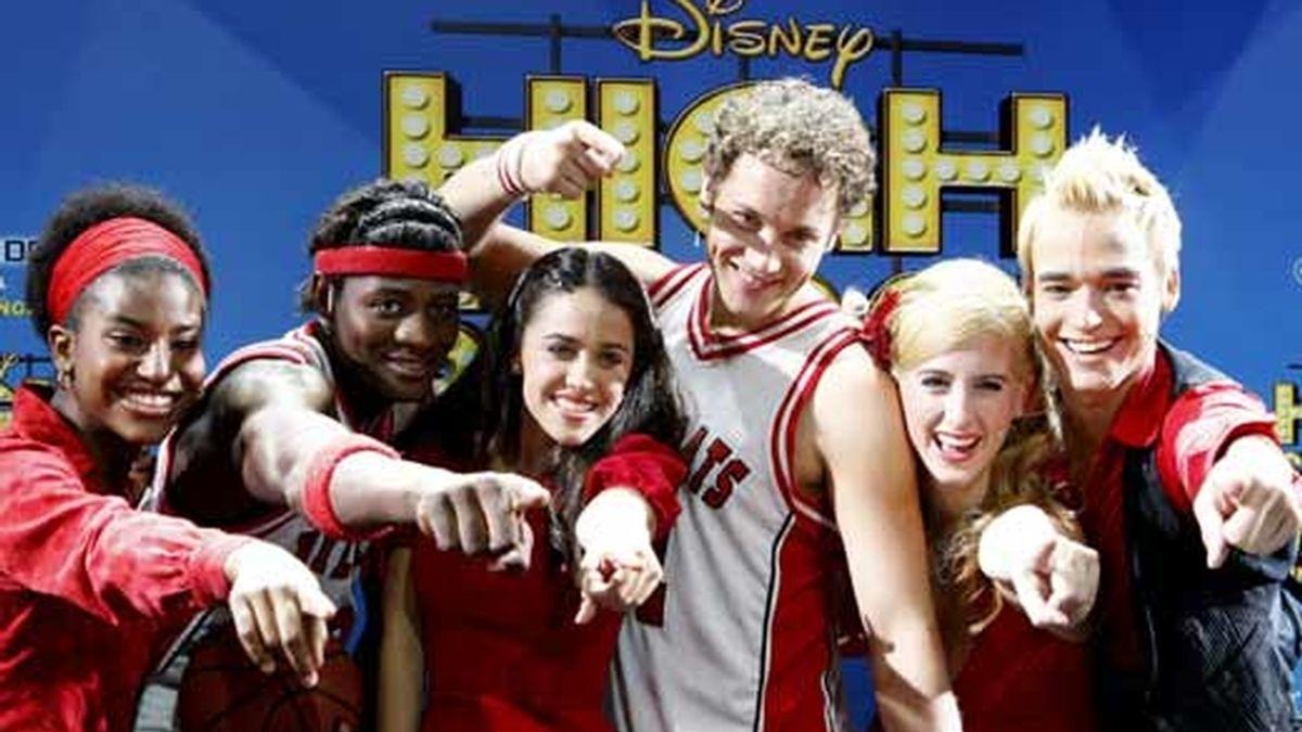 """Los protagonistas del musical """"High School Musical"""" durante la presentación del espectáculo en Madrid. Foto: EFE"""