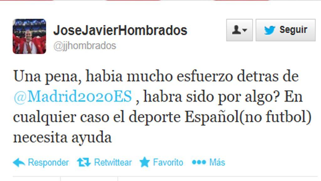 José Javier Hombrados, jugador de balonmano, decepcionado tras la decisión
