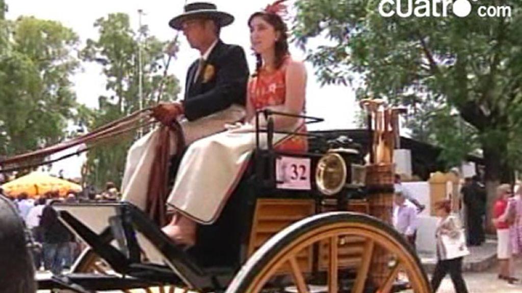 Los caballos y los carros en la Feria de Jerez
