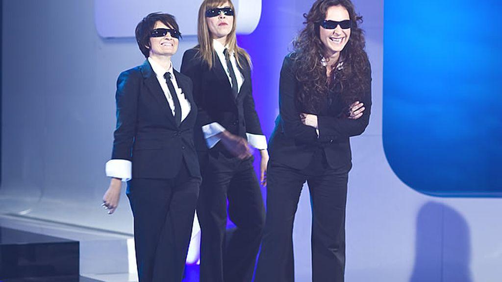 Las presentadoras en un momento de plató