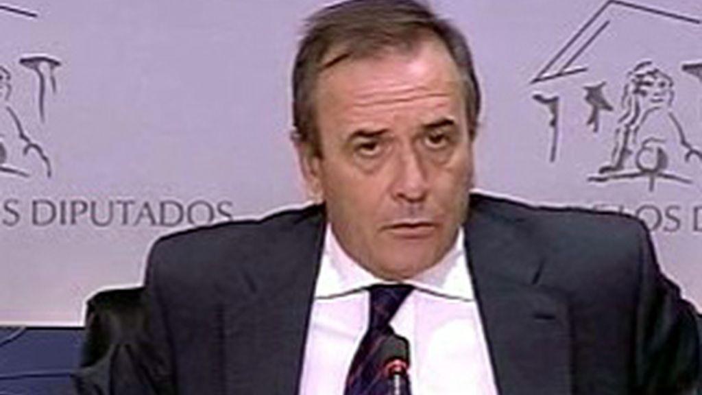 El portavoz Socialista, José Antonio Alonso