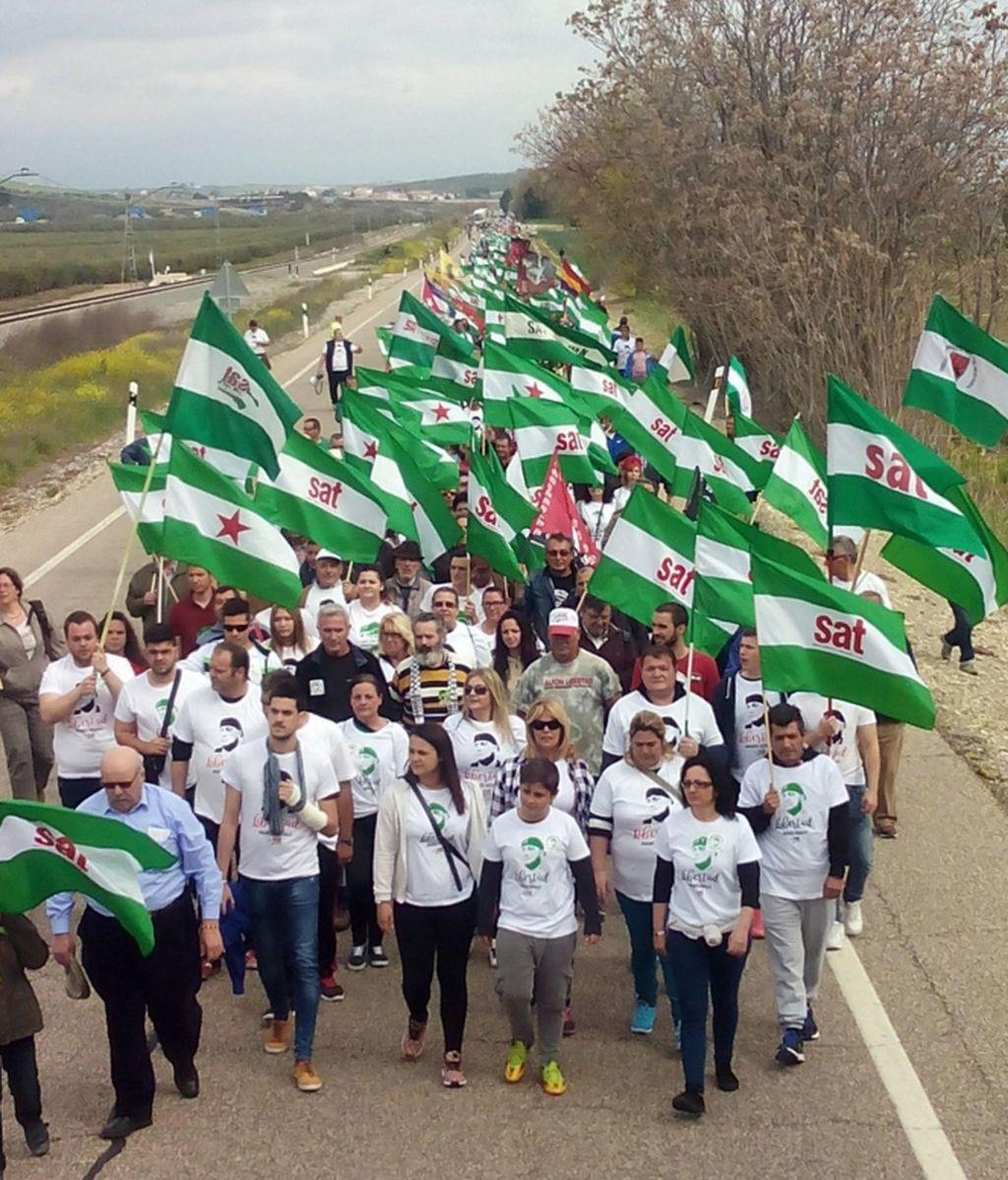 Una marcha del SAT pide la libertad para el concejal Andrés Bódalo