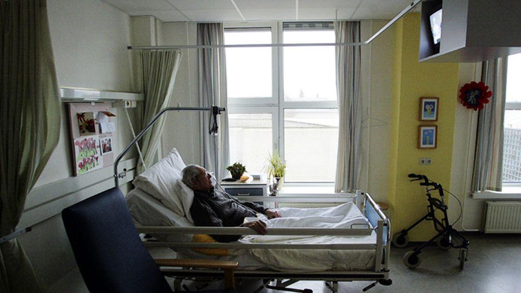 Un enfermo en un hospital