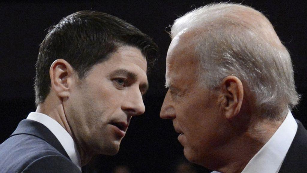 El vicepresidente de Estados Unidos, Joe Biden, y el aspirante al cargo del Partido Republicano, Paul Ryan