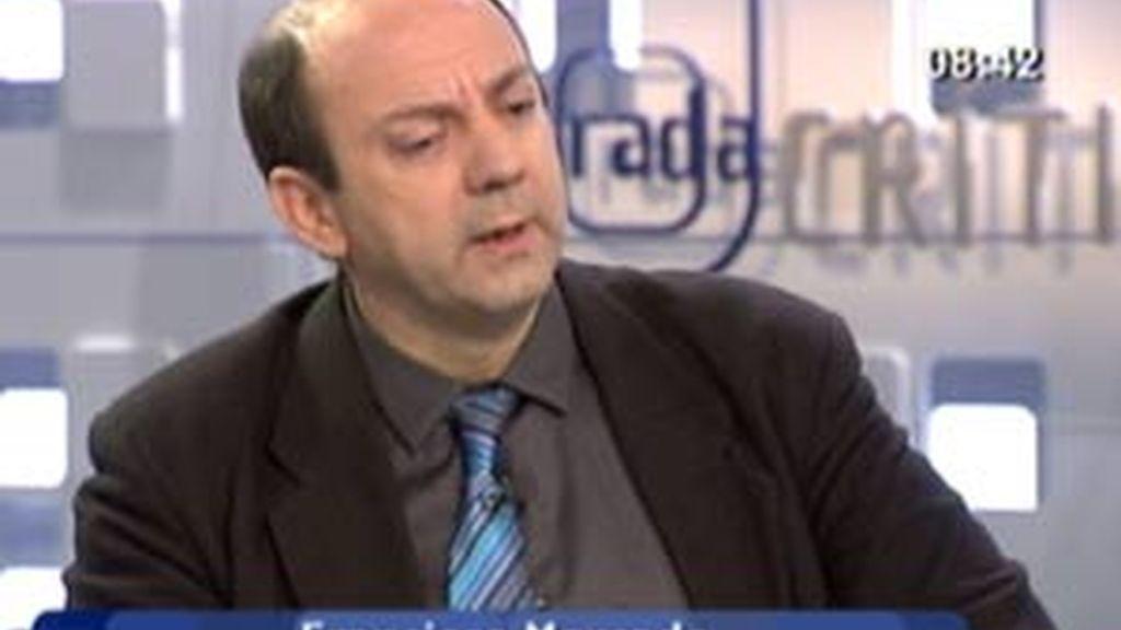Francisco Mercado, en La Mirada Crítica. Vídeo: Informativos Telecinco