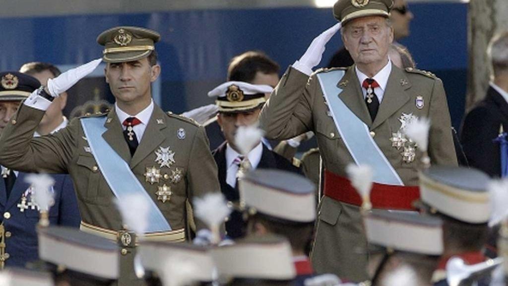 El Rey desfile militar
