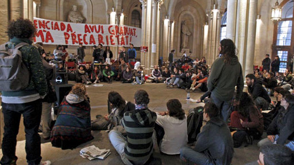Universitarios contra el Plan Bolonia