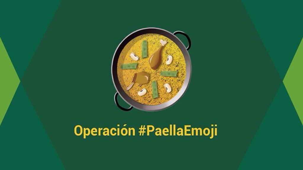 Concentración en el Congreso para conseguir el emoticono de la paella en Whatsapp