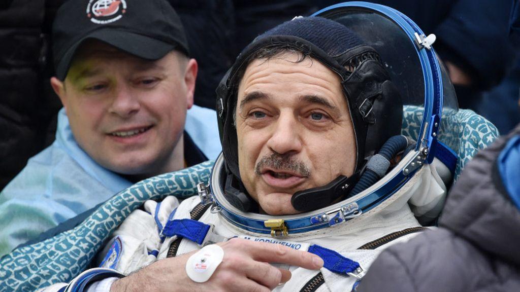 El astronauta ruso a su llegada a la Tierra tras casi un año en la Estación Espacial