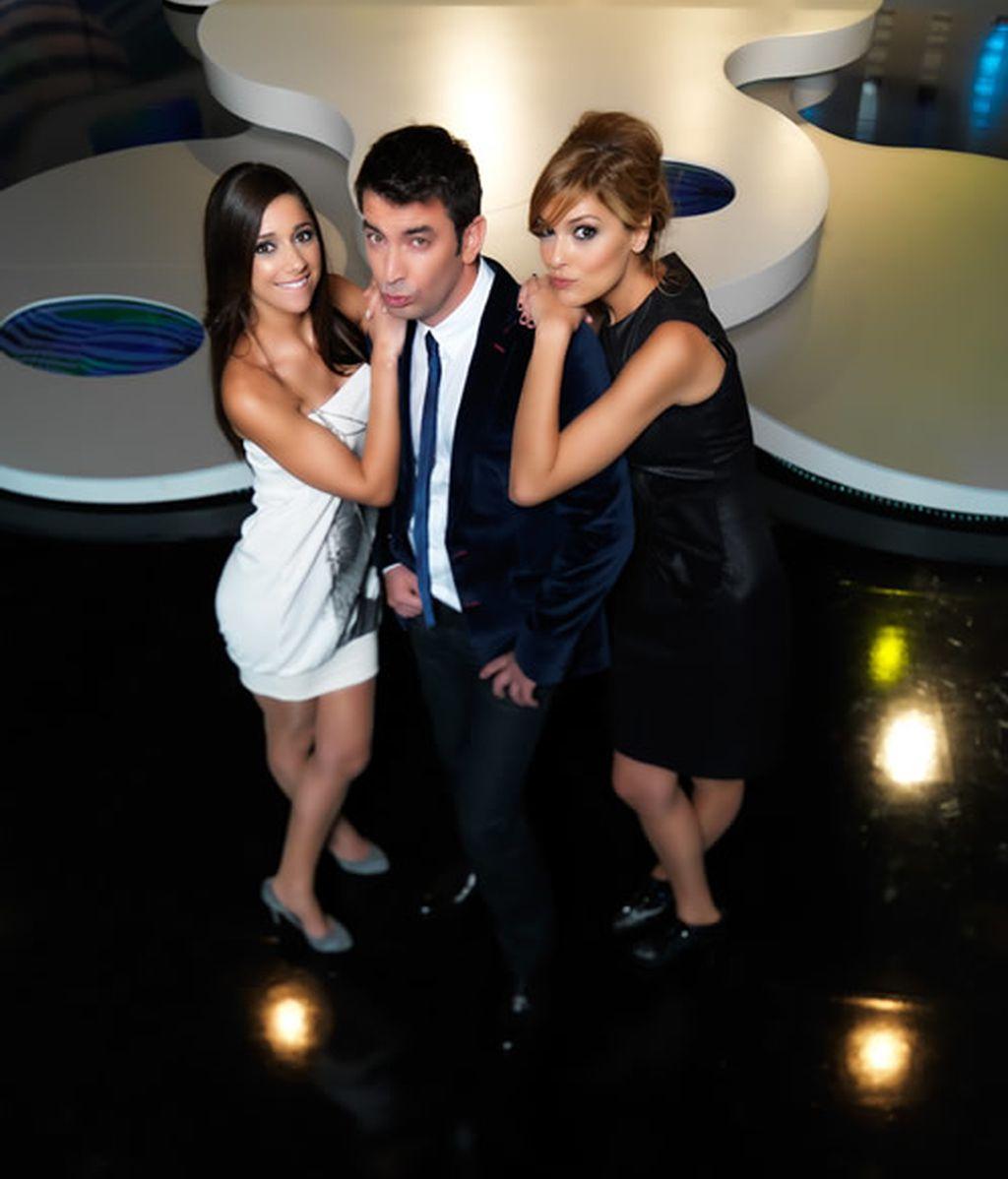 Arturo Valls, Mariam Hernández y Cristina Urgel, presentadores de Vaya Tropa