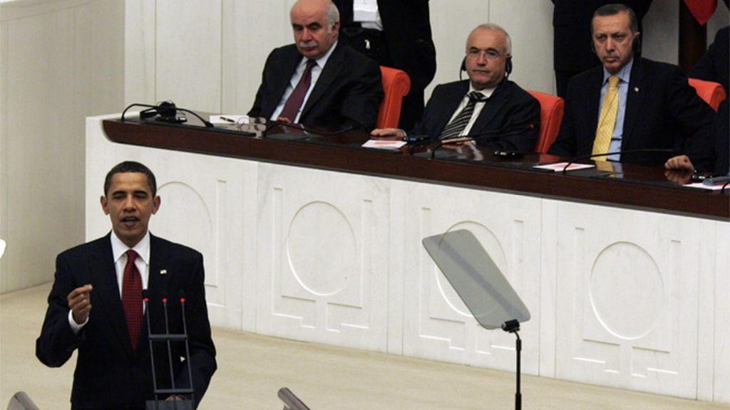 Obama en el parlamento turco