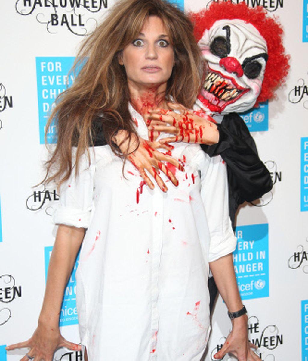 Jemima Goldsmith, aterrada por el payaso asesino
