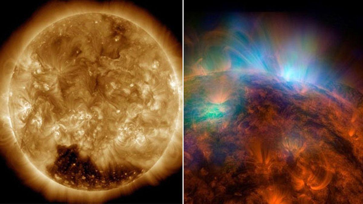 Unas imágenes de la NASA revelan un misterioso 'agujero coronal' en el polo sur del Sol