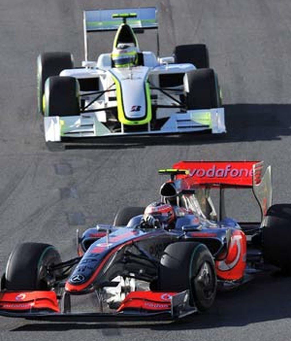 Kovalainen rueda con el McLaren. Foto: EFE