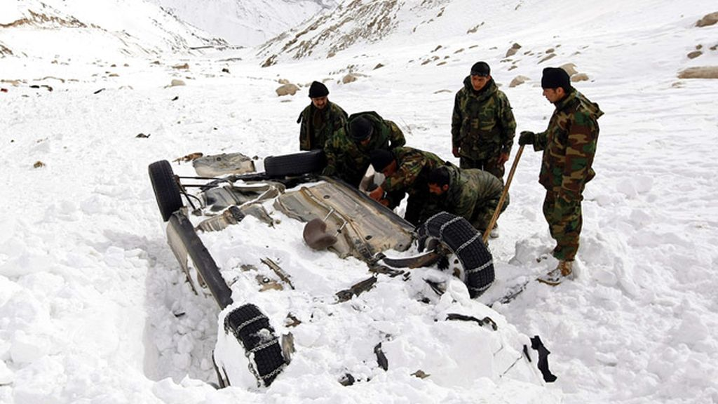 Avalancha en Afganistán.