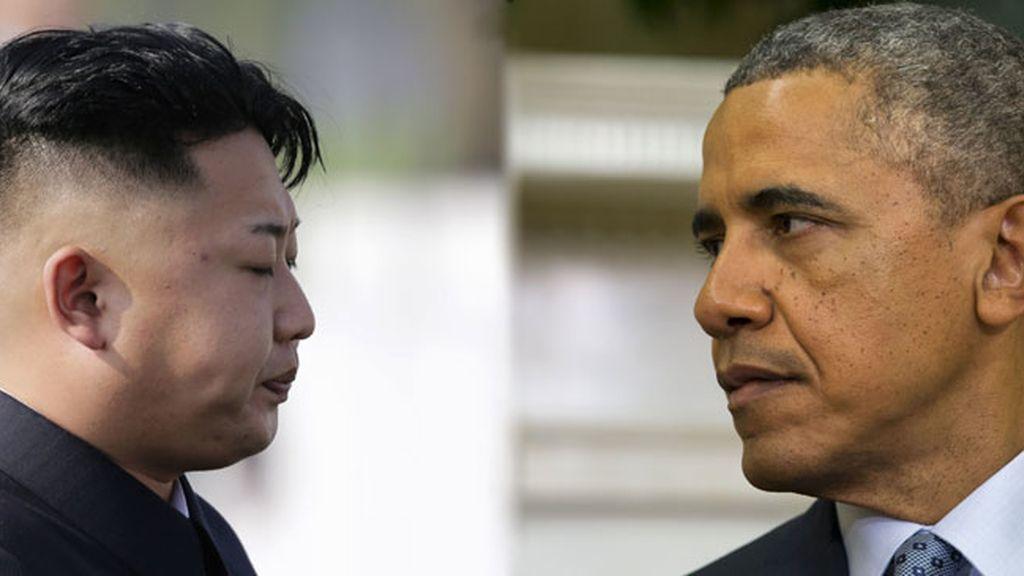 Obama y Kim Jong Un