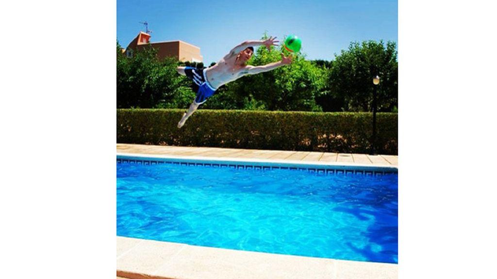 Courtois, jugador del Atlético de Madrid, de cabeza en Ibiza