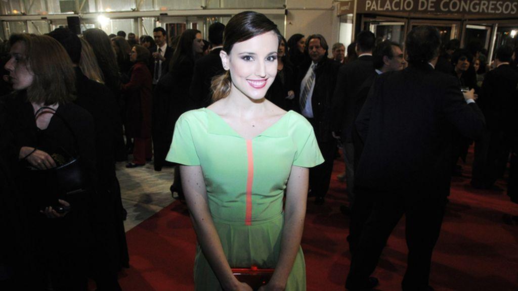 Natalia de Molina, con vestido de Rosanna
