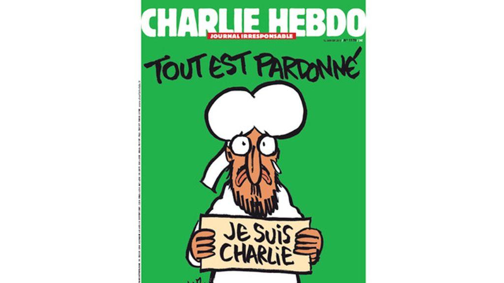 """""""Todo está perdonado"""", la primera portada de Charlie Hebdo tras la masacre"""