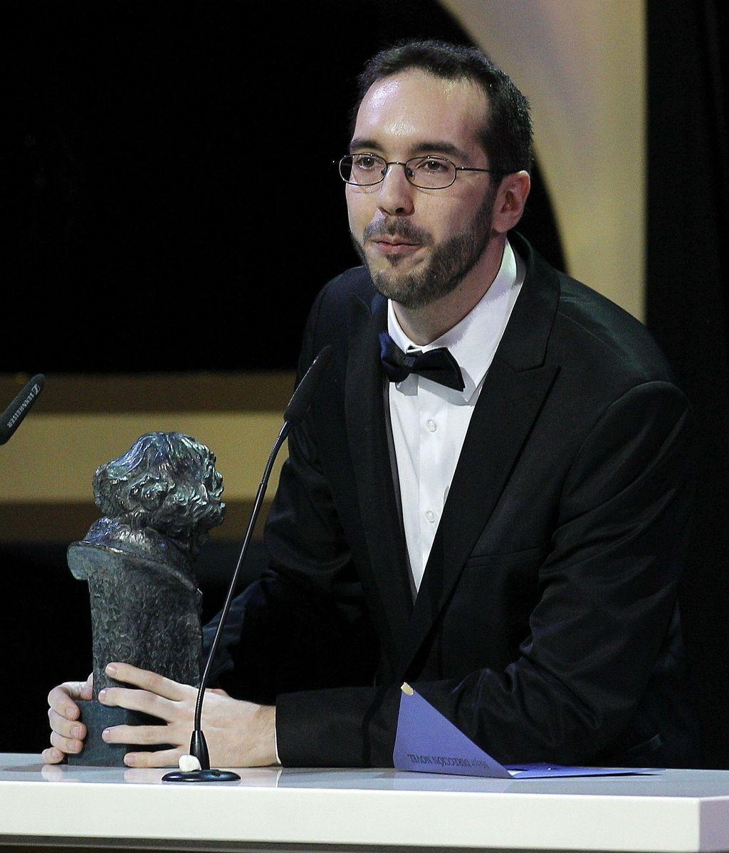 Enrique Gato recibe el Goya a la mejor dirección novel, por su trabajo en Las aventuras de Tadeo Jones