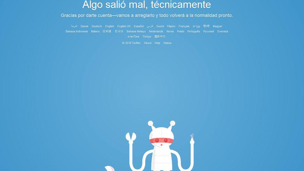 Twitter, fuera de servicio