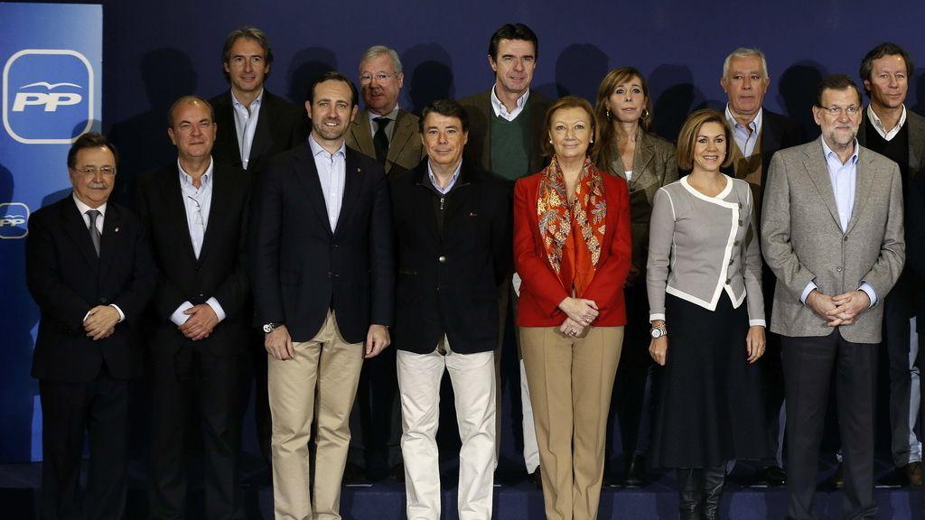 Rajoy y sus 'barones' en Segovia