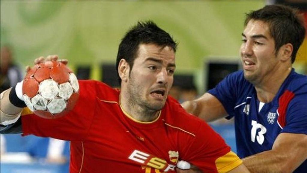 España pierde en balonmano ante Francia