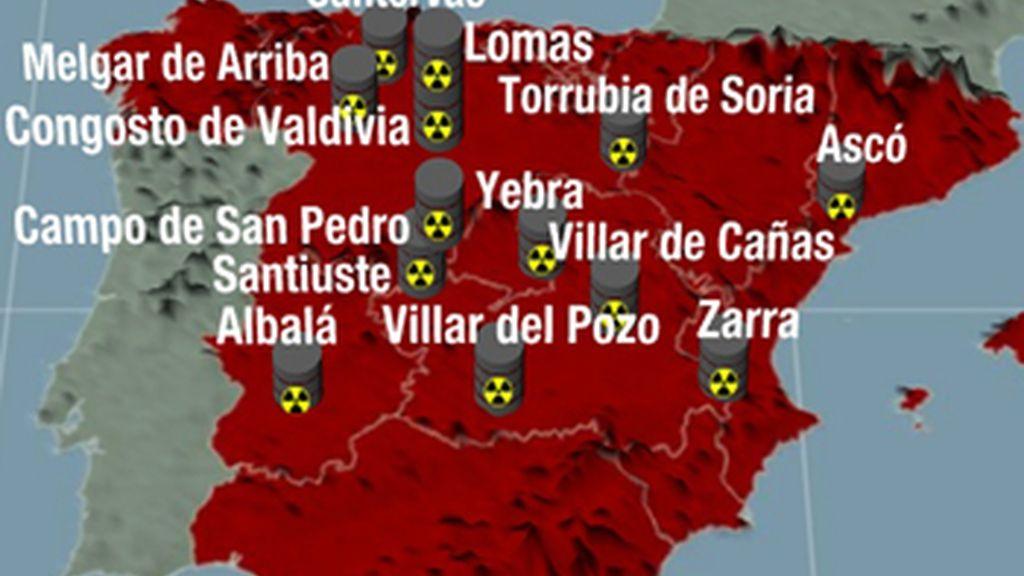 Trece municipios de cinco comunidades autónomas son candidatos a albergar el ATC