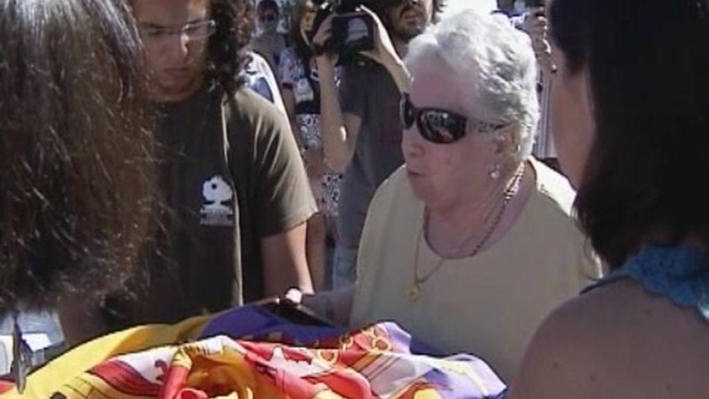 La familia de un fusilado en la guerra civil recibe sus restos