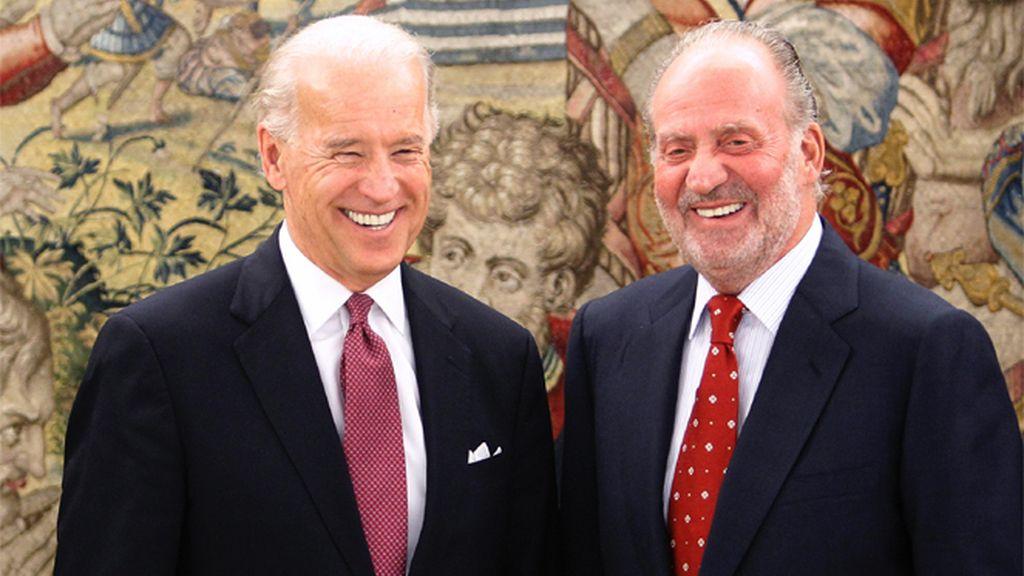El Rey y Biden, vicepresidente de los EEUU