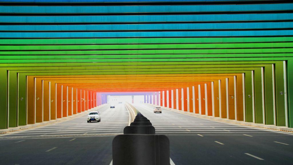 Un túnel como el arco iris