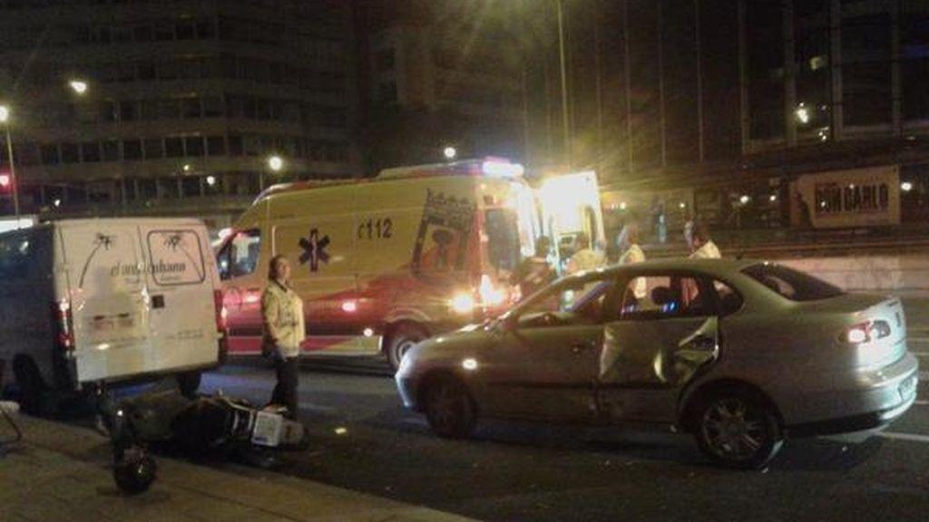 Accidente de tráfico en Madrid