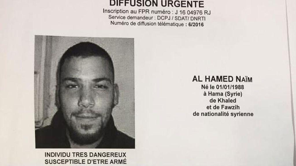 Ficha policial de Naïm Al Hamed