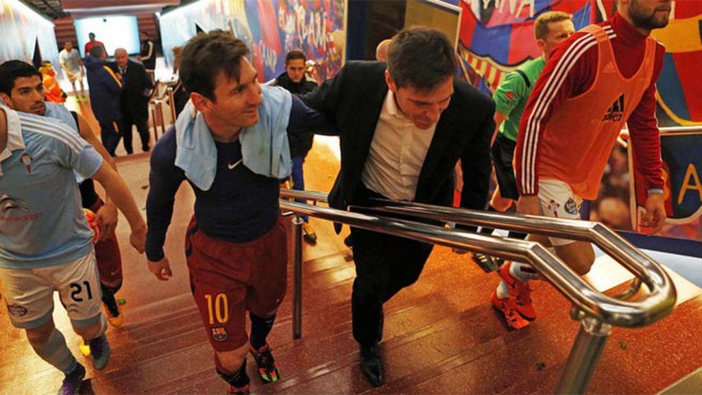 La alegría de la MSN del Barça, desde dentro