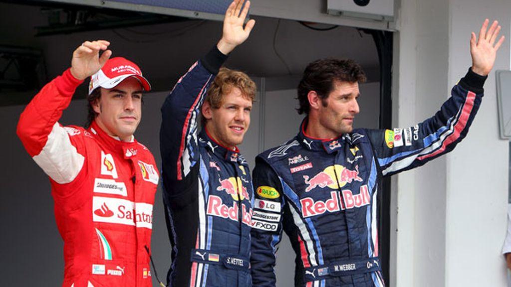 Vettel, Webber y Alonso ocupan las primeras plazas de la parrilla