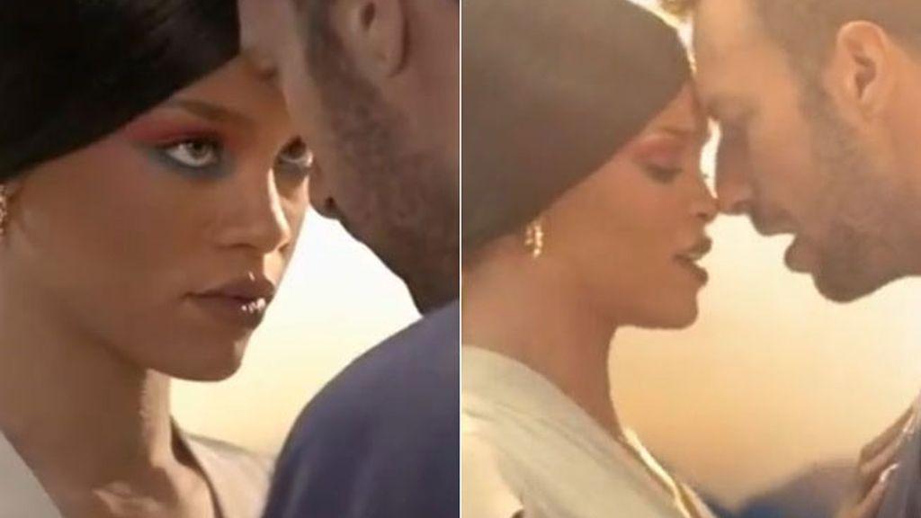 Rihanna, Chris Martin, Coldplay
