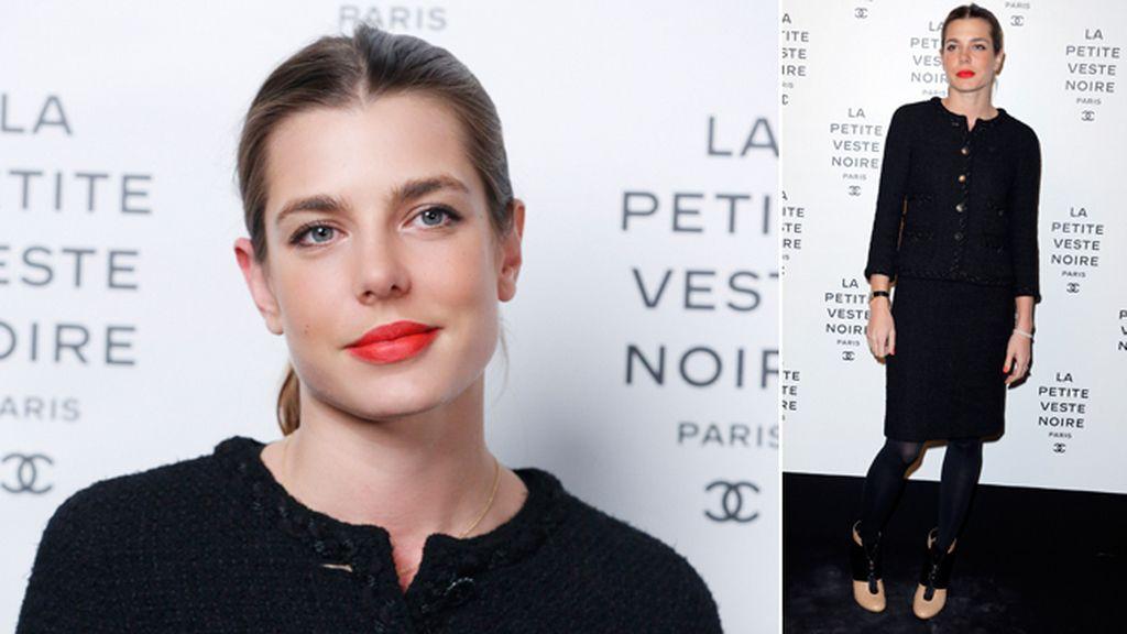Carlota Casiraghi con la clásica Little Black Jacket de Chanel