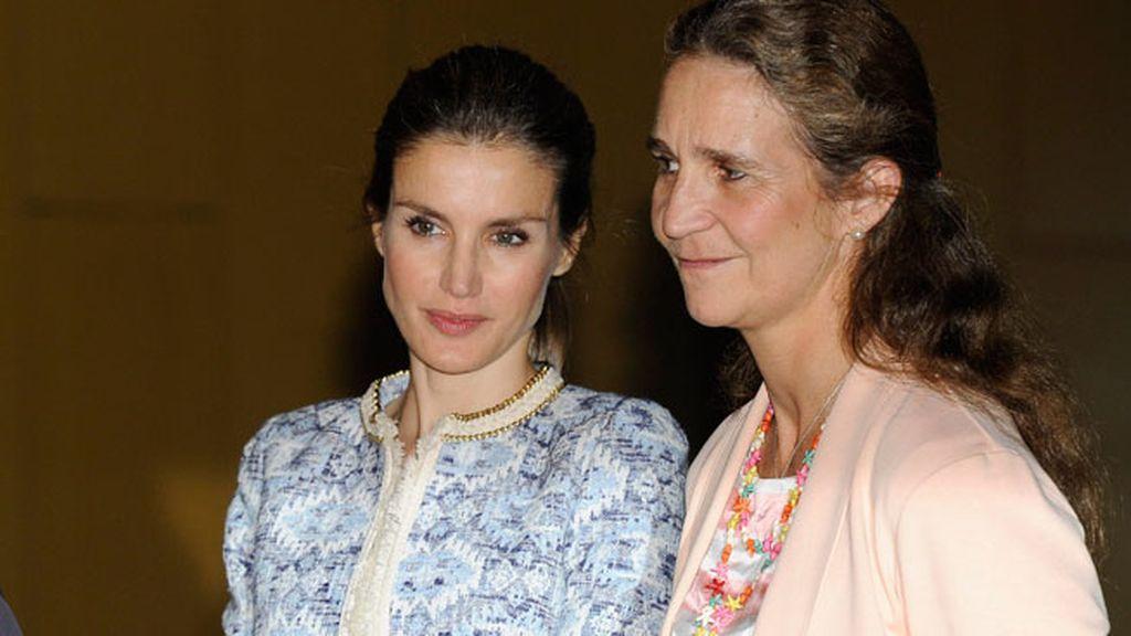 La infanta Elena y Doña Sofía