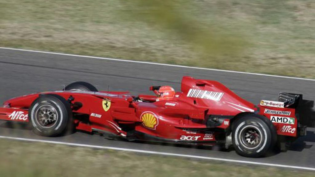 Michael Schumacher rodó con un Ferrari del año 2007