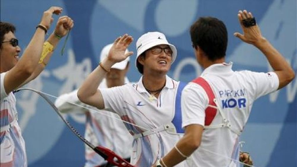 Corea del Sur, oro en tiro con arco por equipos