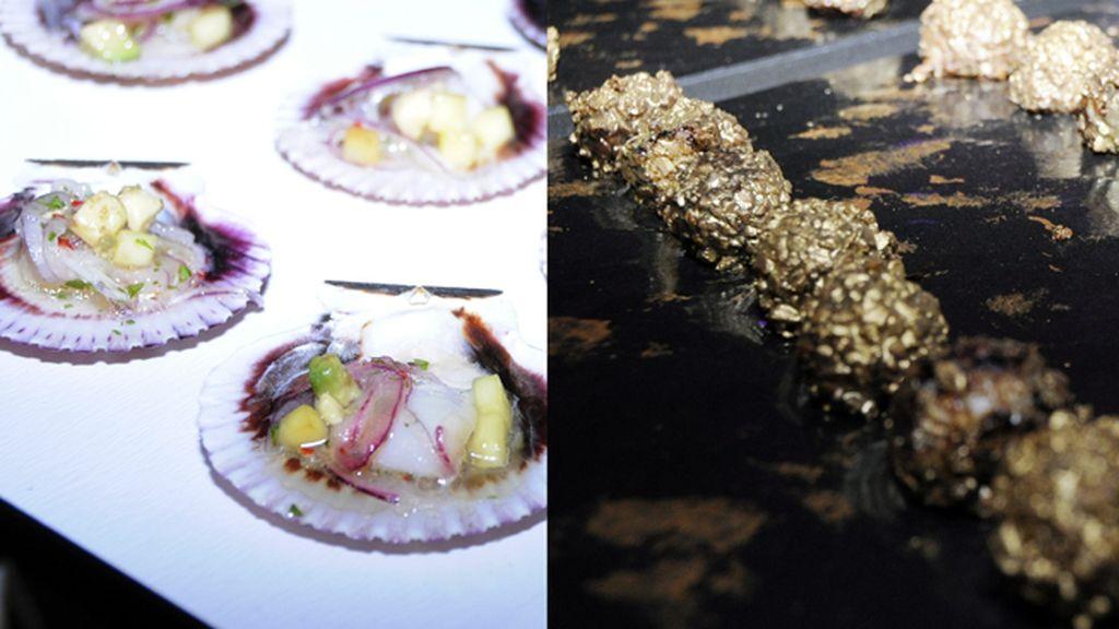 Los canapés que degustamos durante el evento, salidos de la cocina del chef Mario Sandoval