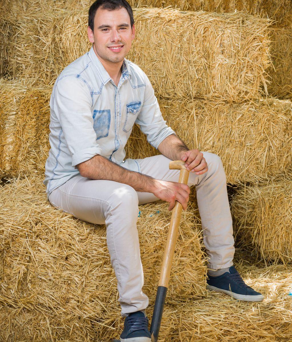 Lander (24), amante de las vacas y del Athletic
